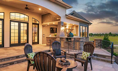 Outdoor Living Space Home Plans