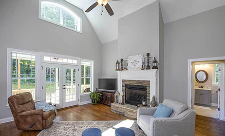 Vaulted Great Room Home Plans