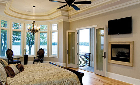 Master Bedroom Fireplace Home Plans