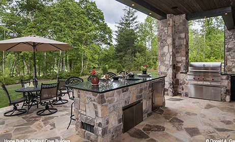 Outdoor Kitchen Home Plans